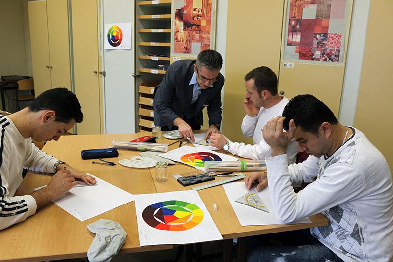 Praktische Informationen zu den Ausbildungsberufen Maler- und Lackiererhandwerks gab es bei der BBS Ahrweiler